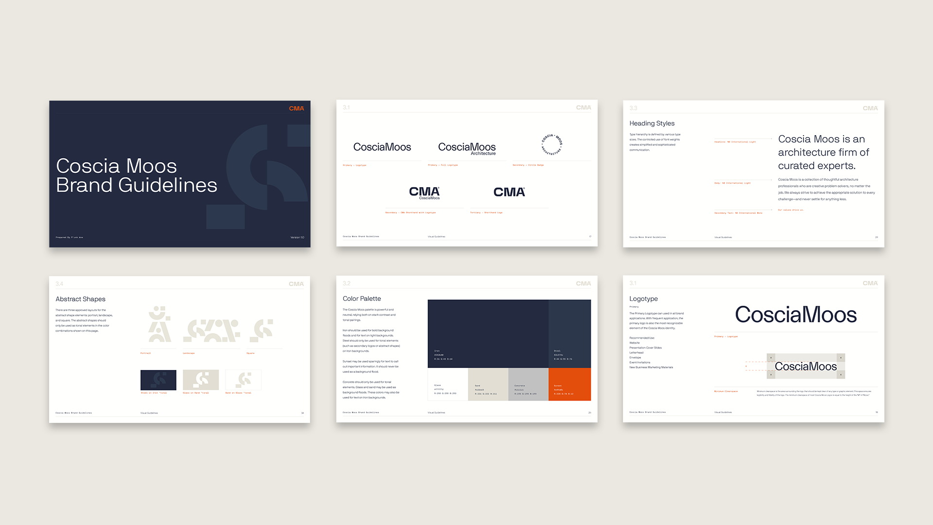 Coscia Moos Brand Guidelines Overview