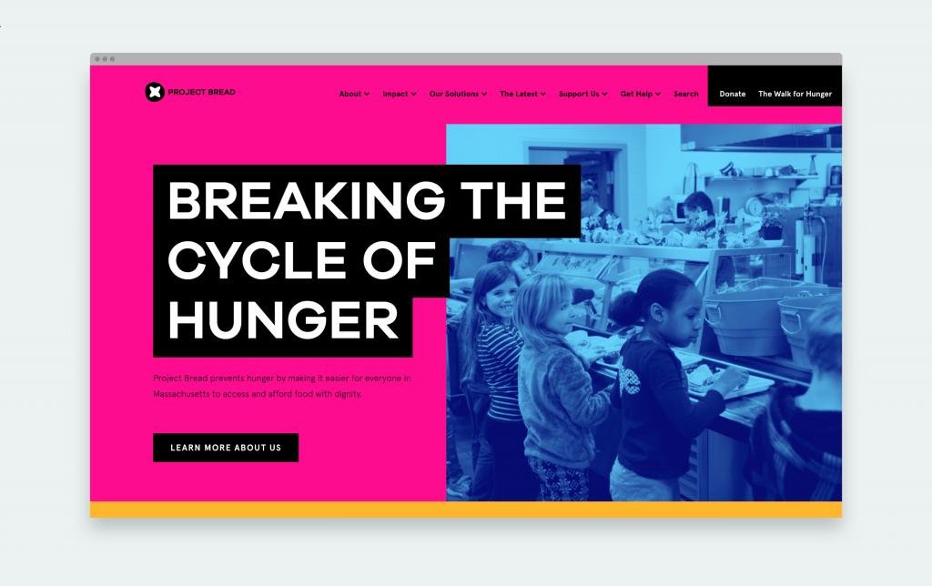 Project Bread Homepage hero